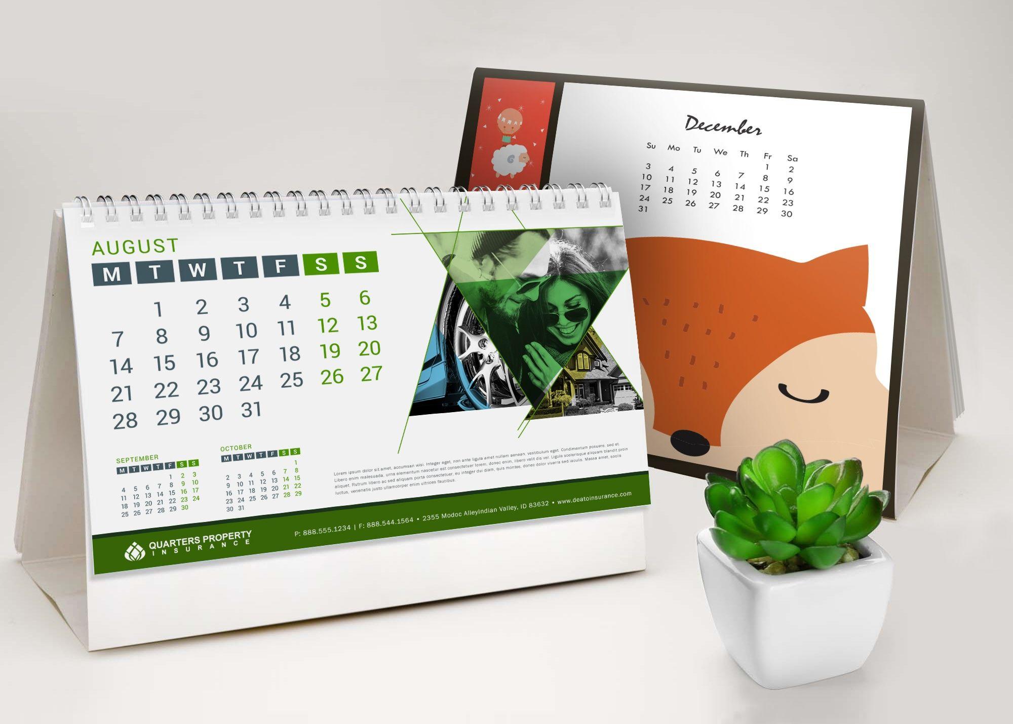 Desktop Calendar Design Examples : Desktop calendars printing services colorfxweb